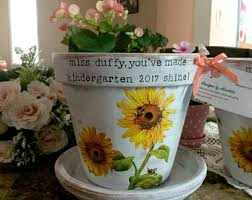 personalized flower pot personalized flower pot custom planter painted