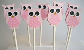owl decorations for baby shower pretty in pink owl cupcake toppers owl baby shower