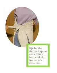 repurposing a men u0027s dress shirt into an apron