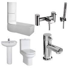 concert lh 1600 x 850 shower bath suite with garda bathroom set