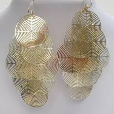 Huge Chandelier Earrings Big Chandelier Filigree Chandelier Earrings In Gold Mimi Boutique