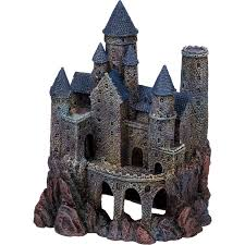 penn plax large magical castle aquarium ornament petco
