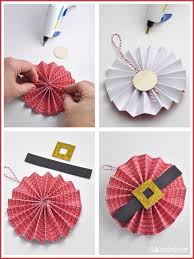 santa belly paper flower ornament craft diy my crafty spot