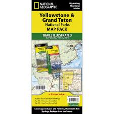 Map Of Yellowstone National Park Yellowstone And Grand Teton National Parks Trail Maps Map Pack