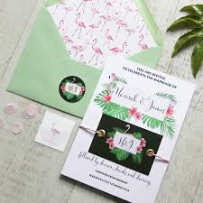 Wedding Wishes Envelope Flamingo Wedding Table Numbers By Love Paper Wishes