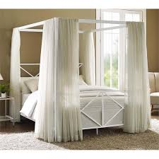 queen canopy bed modern romance metal queen canopy bed in white 4068139