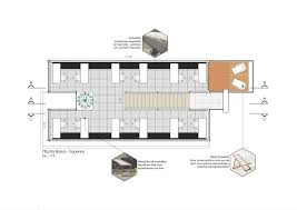 floor plan of the office container modular and sustainable office structure with