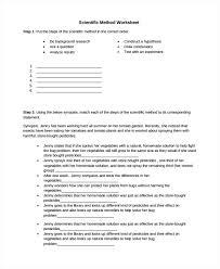 scientific method worksheet 3 scientific method variables
