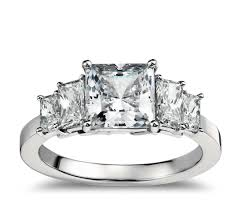 brilliant diamond rings images Four stone square brilliant diamond engagement ring in platinum jpg