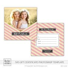 5x5 photography gift card certificate photoshop psd template