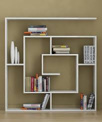 Large White Bookcases by Unique Floating Bookcase On White Wall Cool Plus The Bookcases