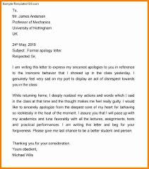 apology letter formal sample formal apology letter 7 documents in