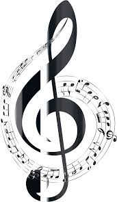 clipart polished onyx musical notes typography no background