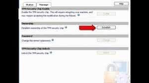 enable trusted platform module tpm on dell e series laptop youtube