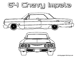 1965 corvette convertible coloring page chevrolet impala ss