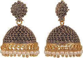 jhumki earring efulgenz ethnic alloy jhumki earring stylemany