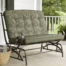 Veranda Metal Patio Loveseat Glider by Jaclyn Smith Cora Cushion Double Glider Outdoor Living Patio