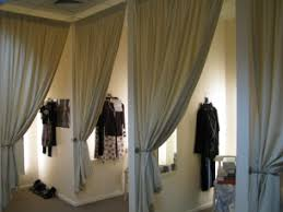 Fitting Room Curtains with Fitting Rooms Even The Way The Curtains Are Tied Back Gives It A