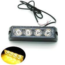 strobe light light bulb 2pcs 4 led car truck flash fog light emergency warning light bulb