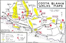 Map A Walking Route by Walks And Maps Around Costa Blanca