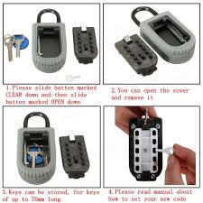 10 digit zinc digital key lock box alloy combination key cabinet
