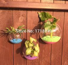 Vase Wall Decor Aliexpress Com Buy 3pcs Set Semicircle Glass Terrariums Wall