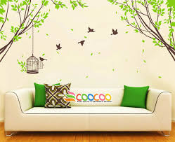tree wall decal branches birds nursery vinyl wall sticker tree