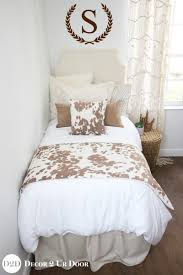 bed spreads for girls tan cowhide dorm bedding set wall decal teen designer rustic