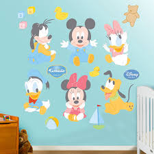 Disney Baby Mickey And Friends Wall Sticker Wall Sticker Outlet - Disney wall decals for kids rooms