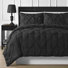 black pinch pleat comforter set ease bedding with style