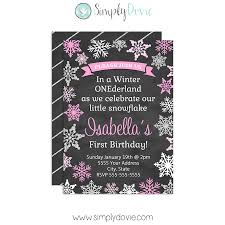 winter onederland ii birthday thank you card
