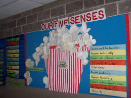 40 best unit boards images on pinterest ib classroom classroom five senses bulletin board describing popcorn adapted from idea previously seen on pinterest
