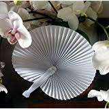 fans for weddings set of 100 white paper fans wedding favors kitchen
