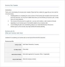 business plan template free download excel business plan template