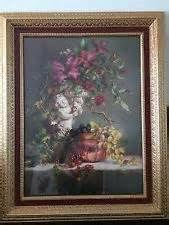 2 vintage home interiors homco gold syroco oval framed pictures