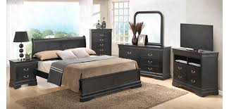 Solid Wood Contemporary Bedroom Furniture by Black Wood Contemporary Bedroom Set G3150e Glory Furniture