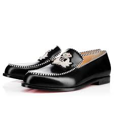 christian louboutin baila spike flat patent leather leopard