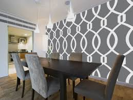 wallpaper for dining room ideas calm gray french country dining room with artistic wallpaper ideas