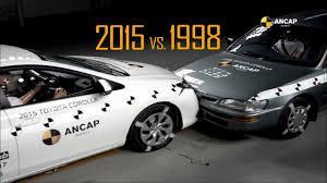toyota corolla ancap crash test 1998 toyota corolla vs 2015 toyota corolla