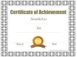 certificate of achievement templates free customizable certificate