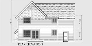 narrow lot house plan craftsman house plan house plans with bonus room 40 x 40 10104