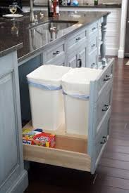 two tone kitchen traditional kitchen trash cans providence