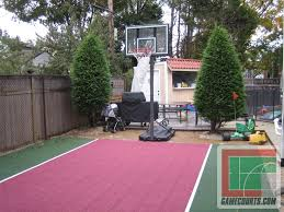 Sports Courts For Backyards Building Backyard Basketball Courts Backyard Landscape Design