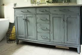Blue Bathroom Vanity by Distressed Bathroom Vanity Bathroom Traditional With Antique Grey