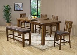 amazon counter height table amazon com acme 00845 morrison counter height table oak finish