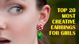 creative earrings top 20 most creative earrings for
