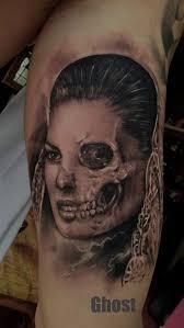 half half skull by mil5 on deviantart skull