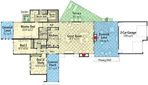 southwest floor plans plan 12548rs contemporary southwestern house plan contemporary
