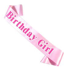 birthday ribbon birthday pink ribbon women princess sashes black palepink
