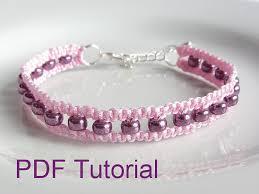 macrame bead bracelet images Pdf tutorial beaded square knot macrame bracelet pattern jpg